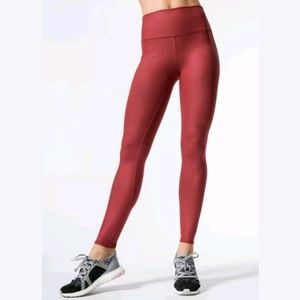 ALO Yoga High Waisted Airbrush Leggings Solid Red